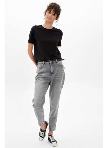 DeFacto Kısa Kollu Basic T-Shirt Siyah
